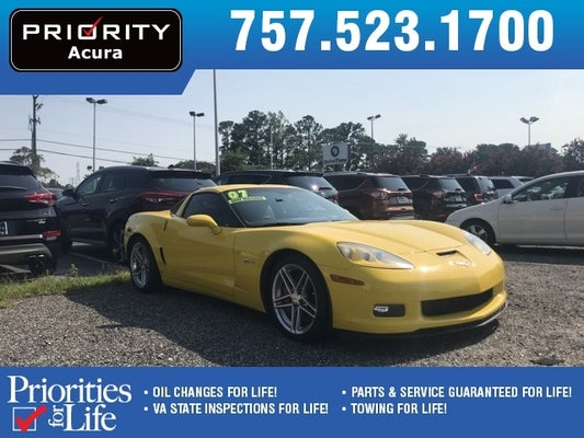 2007 Chevrolet Corvette Z06 Hardtop Chesapeake Va Area Toyota Dealer Serving Chesapeake Va New And Used Toyota Dealership Serving Virginia Beach Norfolk Suffolk Va