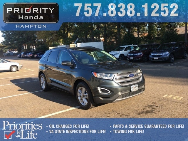 Ford Edge Sel Lifetime Powertrain Warranty In Chesapeake Va Priority Toyota Chesapeake